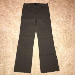 Gap regular khaki wide leg gray grey pants